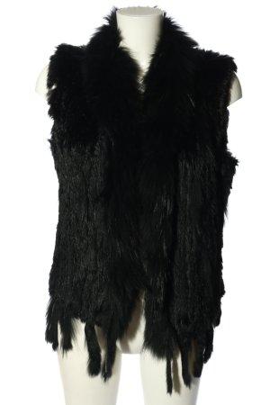 Liesel Futrzana kamizelka czarny W stylu casual