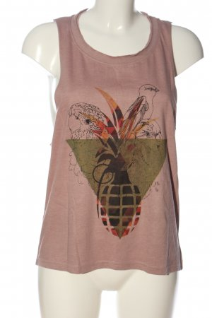 life is a joke Cut Out Top pink themed print casual look