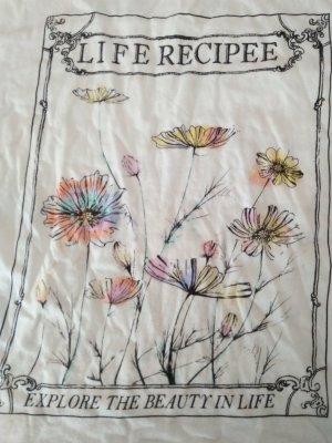 Life Recipes Lebensweiseit Lebenshilfe Shirt Flower Power 36 38 36-38 S