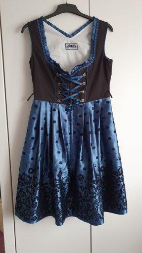 Lifos Dirndl black-blue cotton