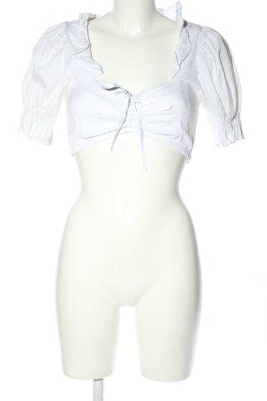 Lifos Blusa tradizionale bianco stile classico