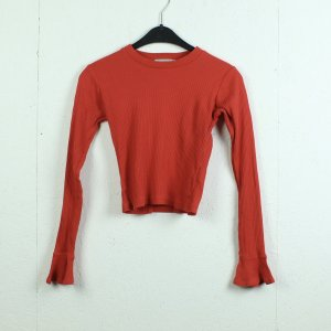 LIGHT BEFORE DARK Longsleeve Gr. S rotorange cropped (21/01/060)