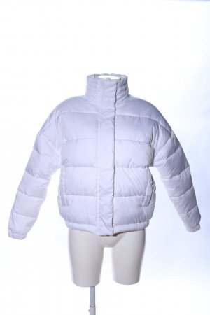 Light Before Dark Quilted Jacket white printed lettering casual look