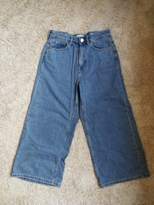 Light Blue Denim Culotte Jeans