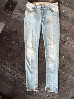 Fishbone Jeans a sigaretta celeste Cotone
