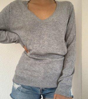Maglione lungo grigio chiaro-argento