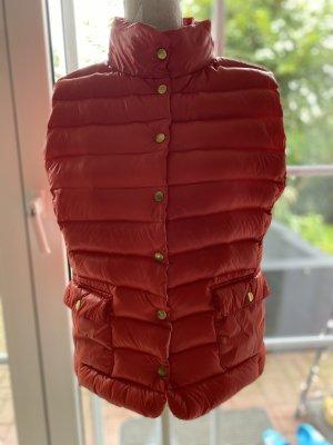 Hallhuber Down Vest bright red