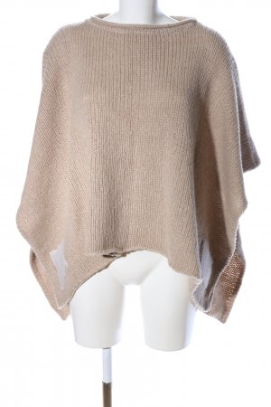 like a bird Strickponcho creme Zopfmuster Casual-Look