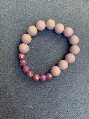 Handmade Brazalete de perlas violeta azulado-malva
