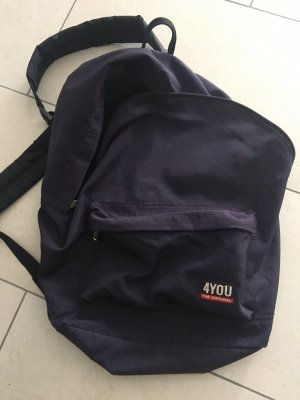 4YOU School Backpack dark violet