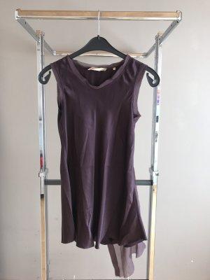 Camisa con cuello caído multicolor