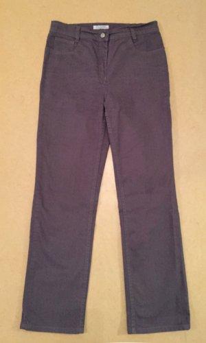 lila-blaue Strech Jeans Hose, lange, high waist, Gr. 40