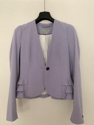 H&M Korte blazer paars Viscose