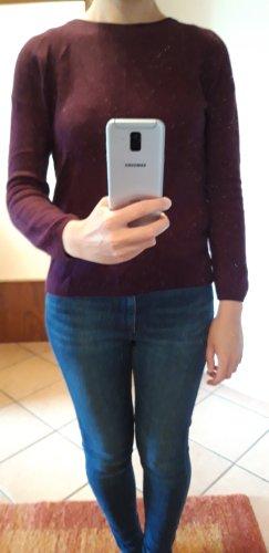 Blue Motion Kaszmirowy sweter brązowo-fioletowy-fiolet Kaszmir