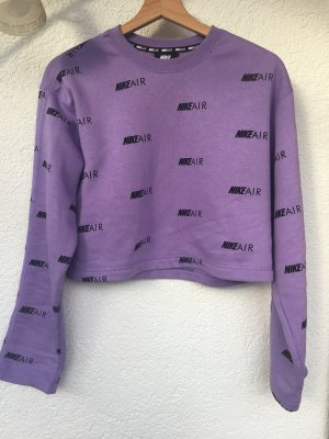 lila cropped pullover von nike
