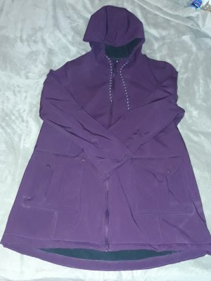 Lila Fleece Regen Jacke Mantel