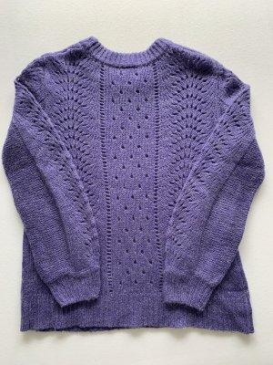 Lila/Flieder Strick-Pullover