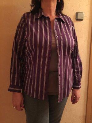 Lila gestreifte Bluse größe 46
