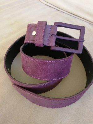 F. Rizzolli Leather Belt dark violet