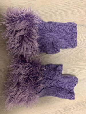 Fingerless Gloves purple