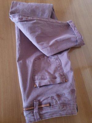 123 Paris Spodnie rurki liliowy