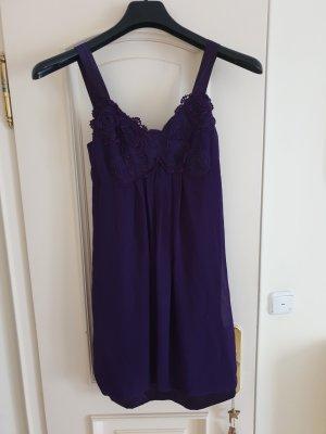 Lila Kleid aus Chiffon und Satin, Gr. 38