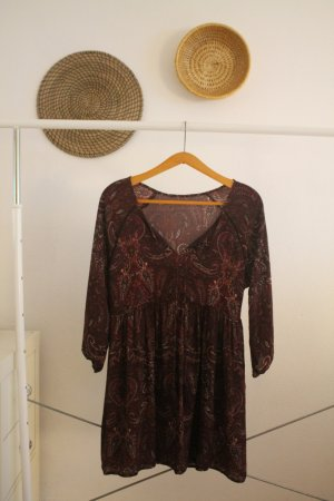Lila Kleid mit Ethno Muster
