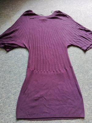 lila Kurzarm-Pullover mit Fledermausärmeln von H&M in Größe S