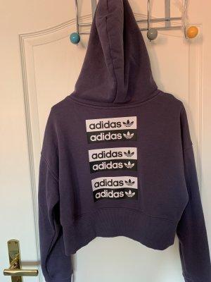 Lila kurzes Swearshirt von Adidas