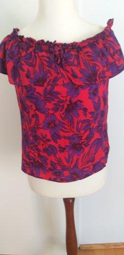 Promod Top épaules dénudées rouge-violet