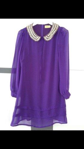 Lila Mini Kleid