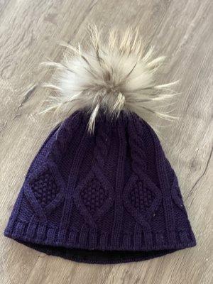 Steffner Chapeau en fourrure violet
