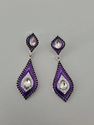 Scarlet Bijoux Zdobione kolczyki srebrny-fiolet