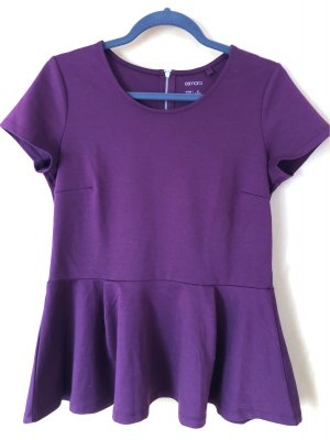 Lila Peplum-Shirt