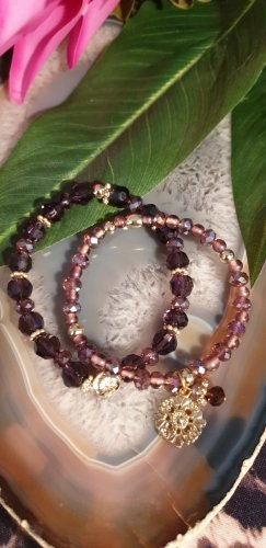 Pearl Bracelet purple