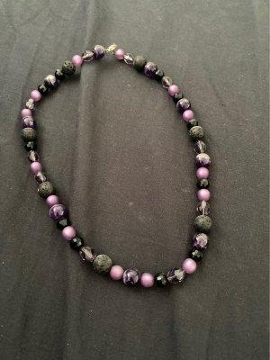 EUROPA PARK Collier de perles violet foncé-bleu violet