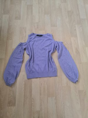 Lila Pullover mit Cut Outs