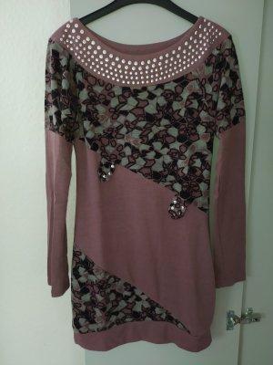 Metrofive Swetrowa sukienka brązowo-fioletowy