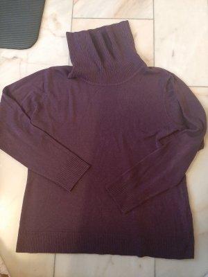 Canda Sweter z golfem purpurowy-brązowo-fioletowy