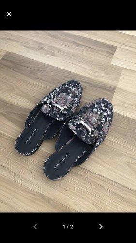 Deichmann Comfortabele sandalen zwart-donkerpaars
