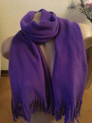 Cassani Sjaal met franjes donkerpaars Polyester
