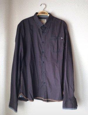 Lila/schwarz kariertes Herrenhemd