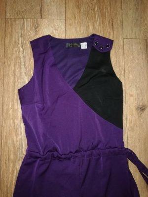 lila/schwarzer Jumpsuit Gr. 40 Neu