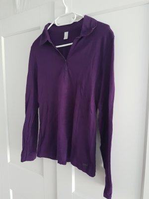 Lila Shirt mit Blusenkragen