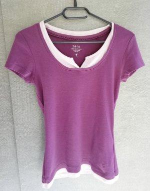 Lila Shirt mit Verzierung