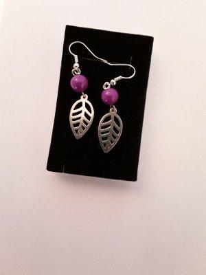 Dangle silver-colored-lilac
