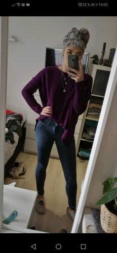 lila Strickpullover mit tollem Rücken