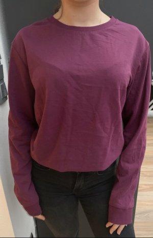 keine Long Sweater purple-brown violet