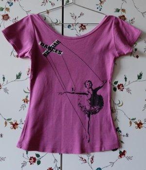 lila T-shirt Zara