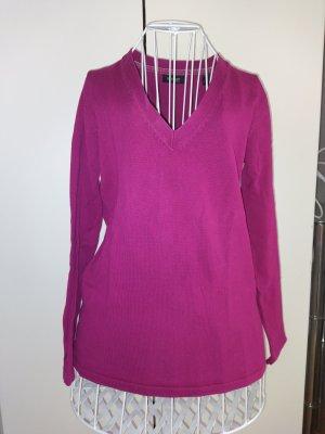 Lila V-Ausschnitt Pullover Größe 36-38